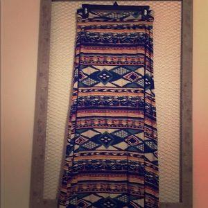 American Rag multi-colored maxi skirt
